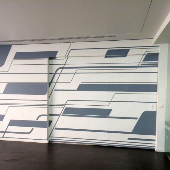 Decoración interior con vinilo sobre pared