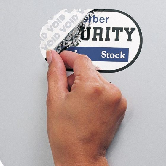 Etiqueta de alta seguridad